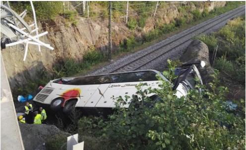 Авария автобуса в Куопио