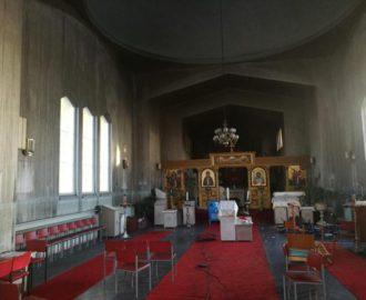 Пожар в церкви Архистратига Божия Михаила в г. Миккели